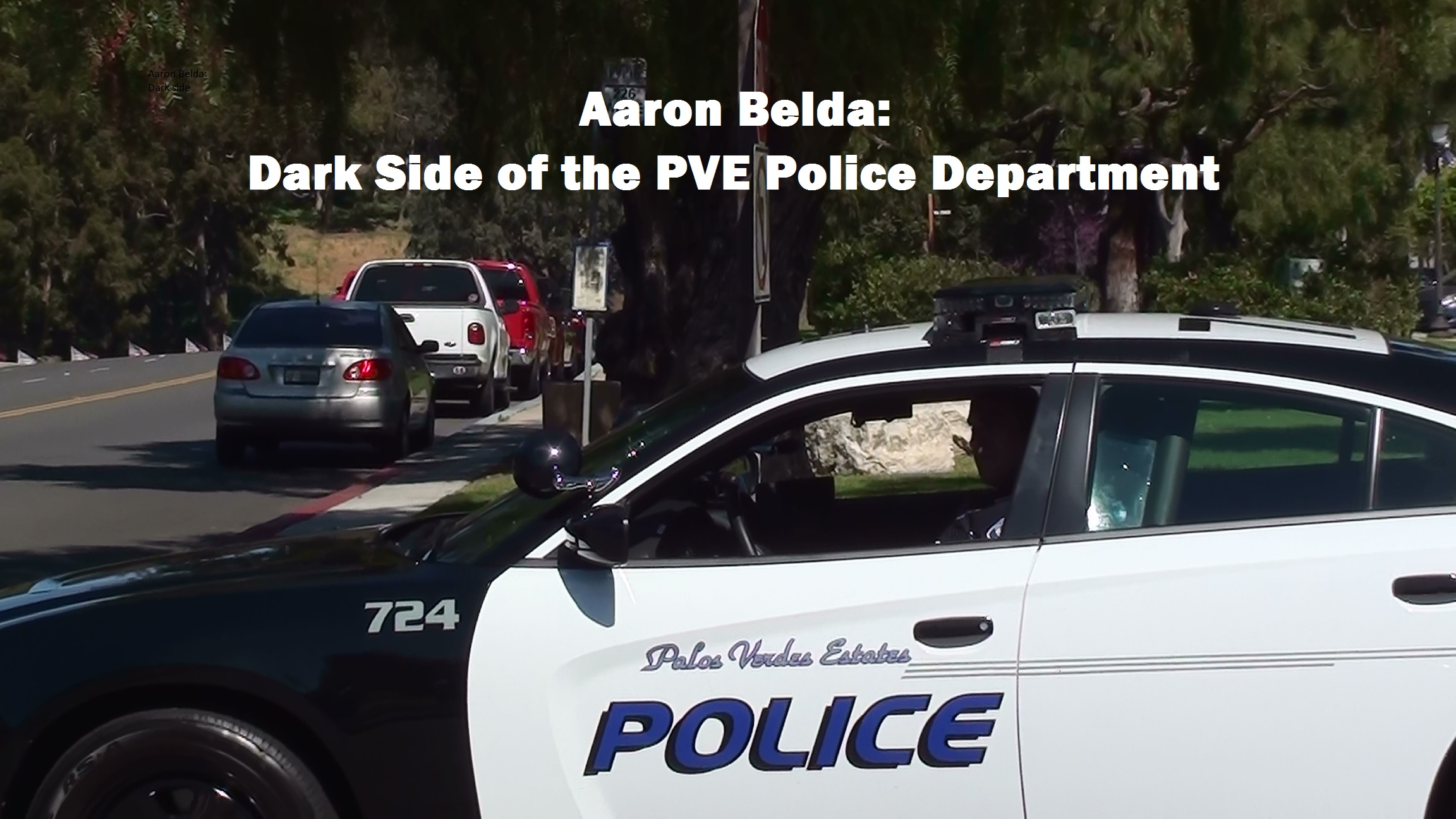 ALB PVE Malaga Cove Plaza Exit Squad Car 03-27-2015 - Captioned