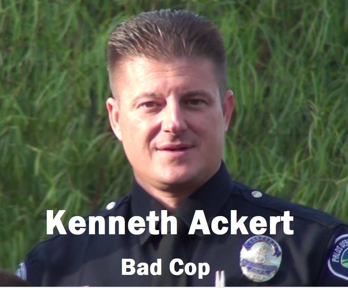 Kenneth Ackert: Falsification of a PVEPD Incident Report put him on Wall of Shame