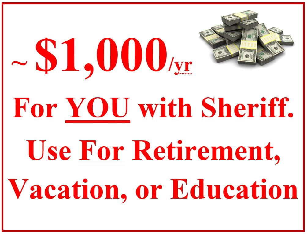 $15,000 - $30,000 More in YOUR Pocket: Over the 12-year Parcel Tax period, each PVE property taxpayer will save ~ $15,000 - $30,000 by moving to the experienced L.A. Sheriff