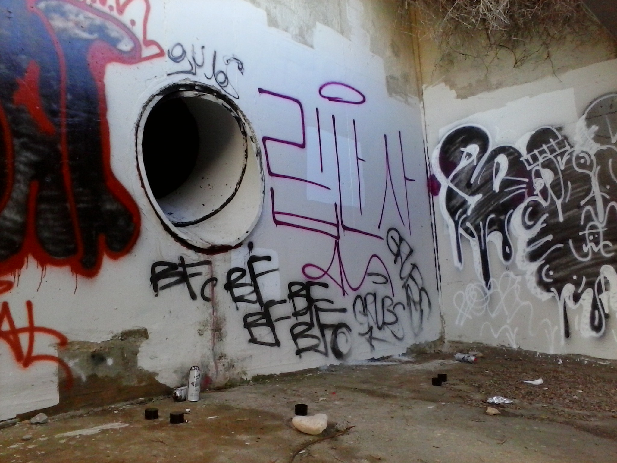 PVE Bluff Cove North Storm Drain Graffiti 09-30-2014