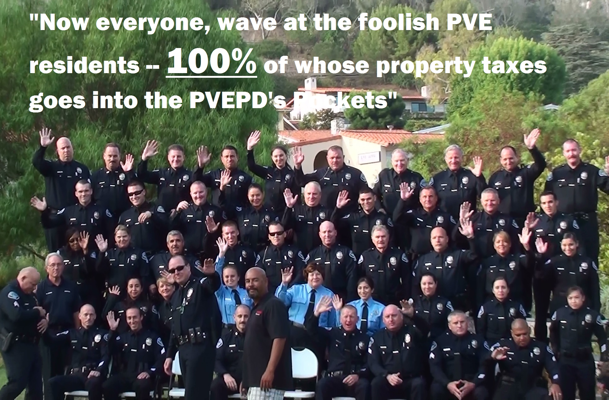 PVEPD Photo Day Entire Dept Waving 09-22-2015 - Cropped & Annotated