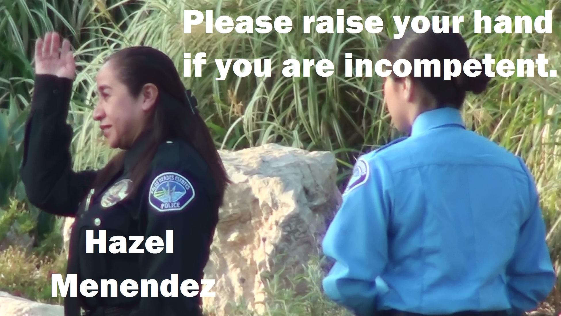 Menendez Hazel Hand Raised