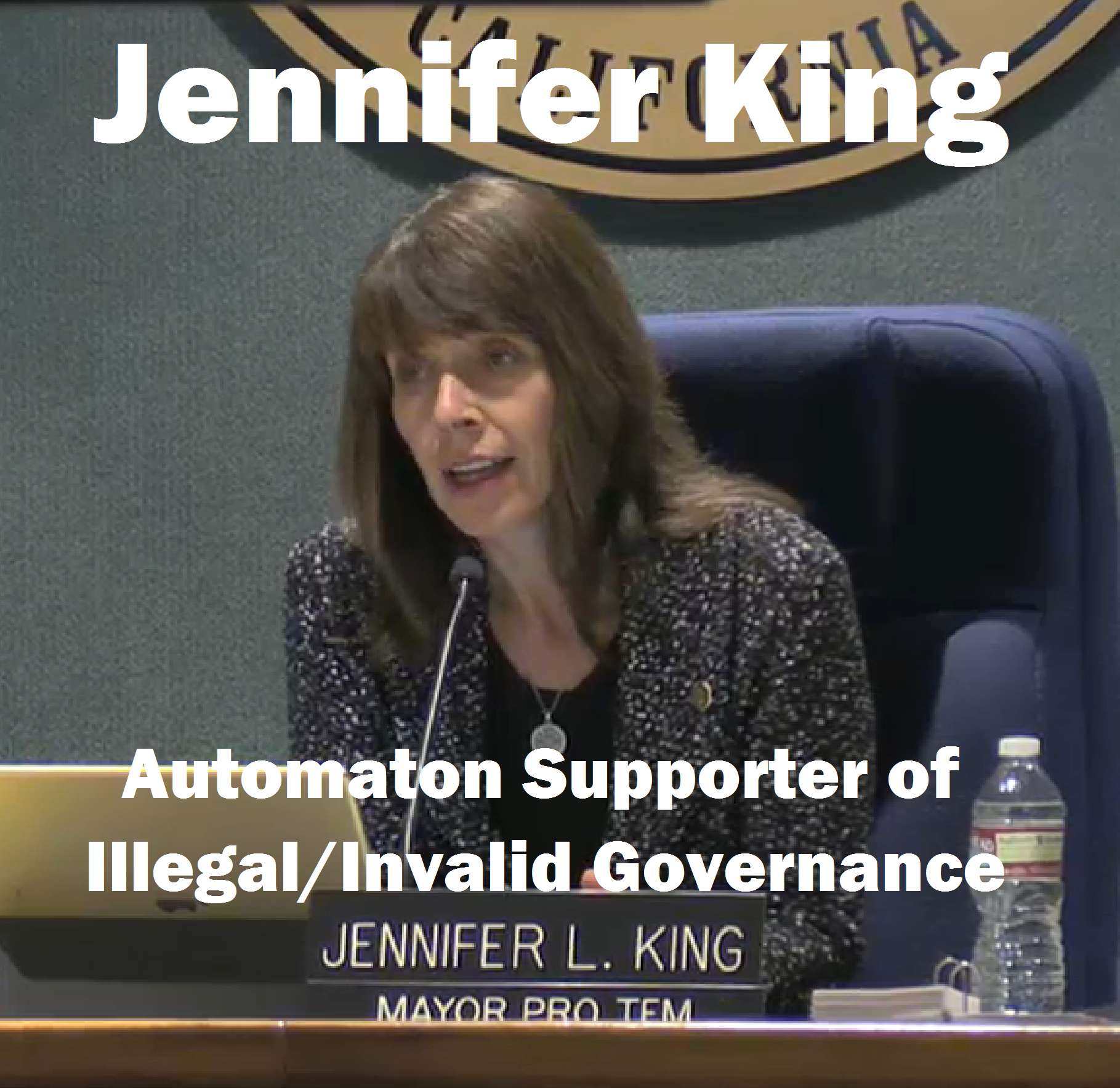 Jennifer King: though a freshman councilperson, in 2014 she distinguished her lack of judgment and loyalty to PVE residents by voting to waste more taxpayer money fighting against those same taxpayer open space interests