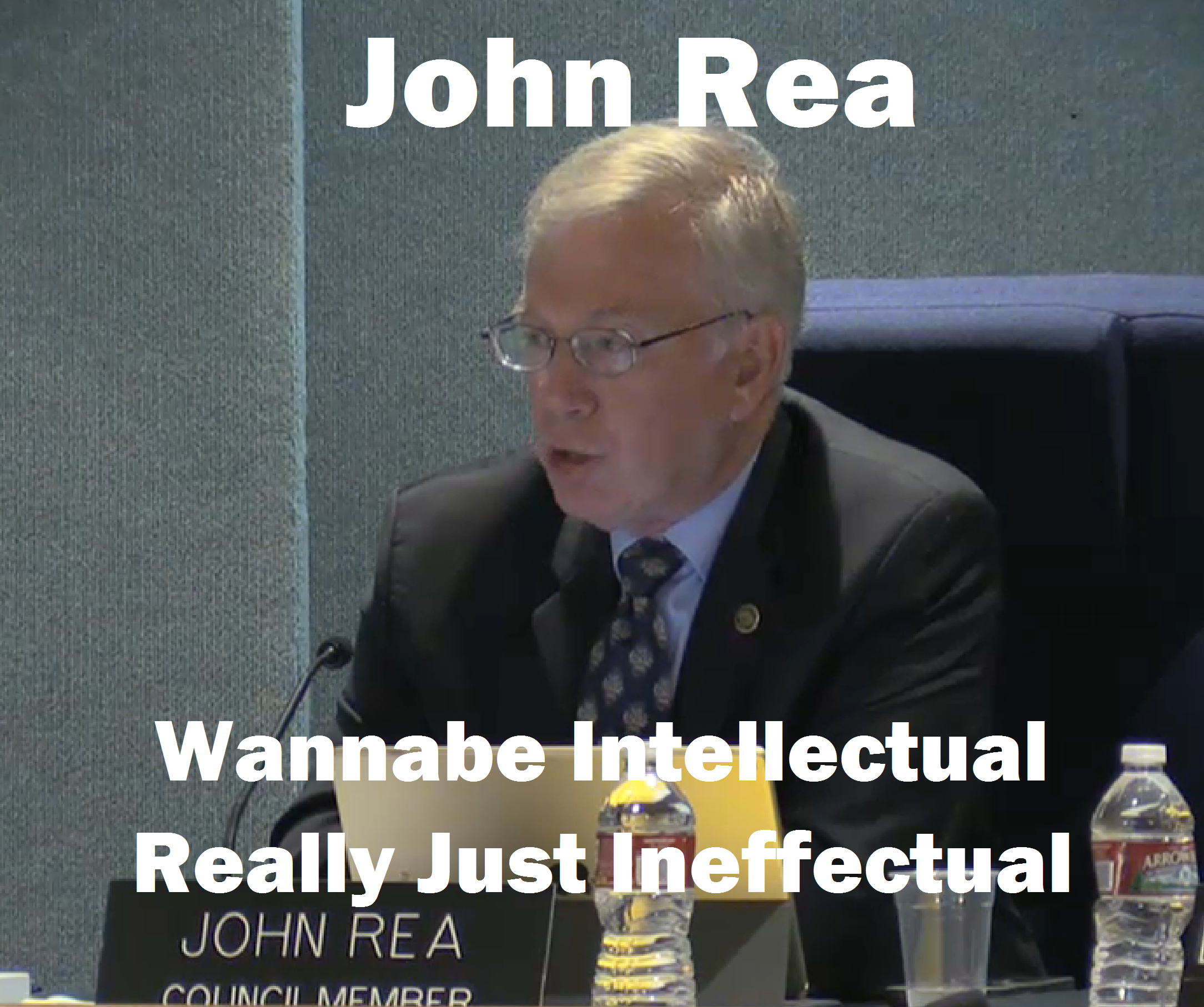 John Rea - another retiree with too much time on his hands but too little loyalty to PVE residents on his mind