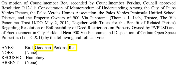 PVECC Parkland Sale Vote 05-08-2012 - Highlighted