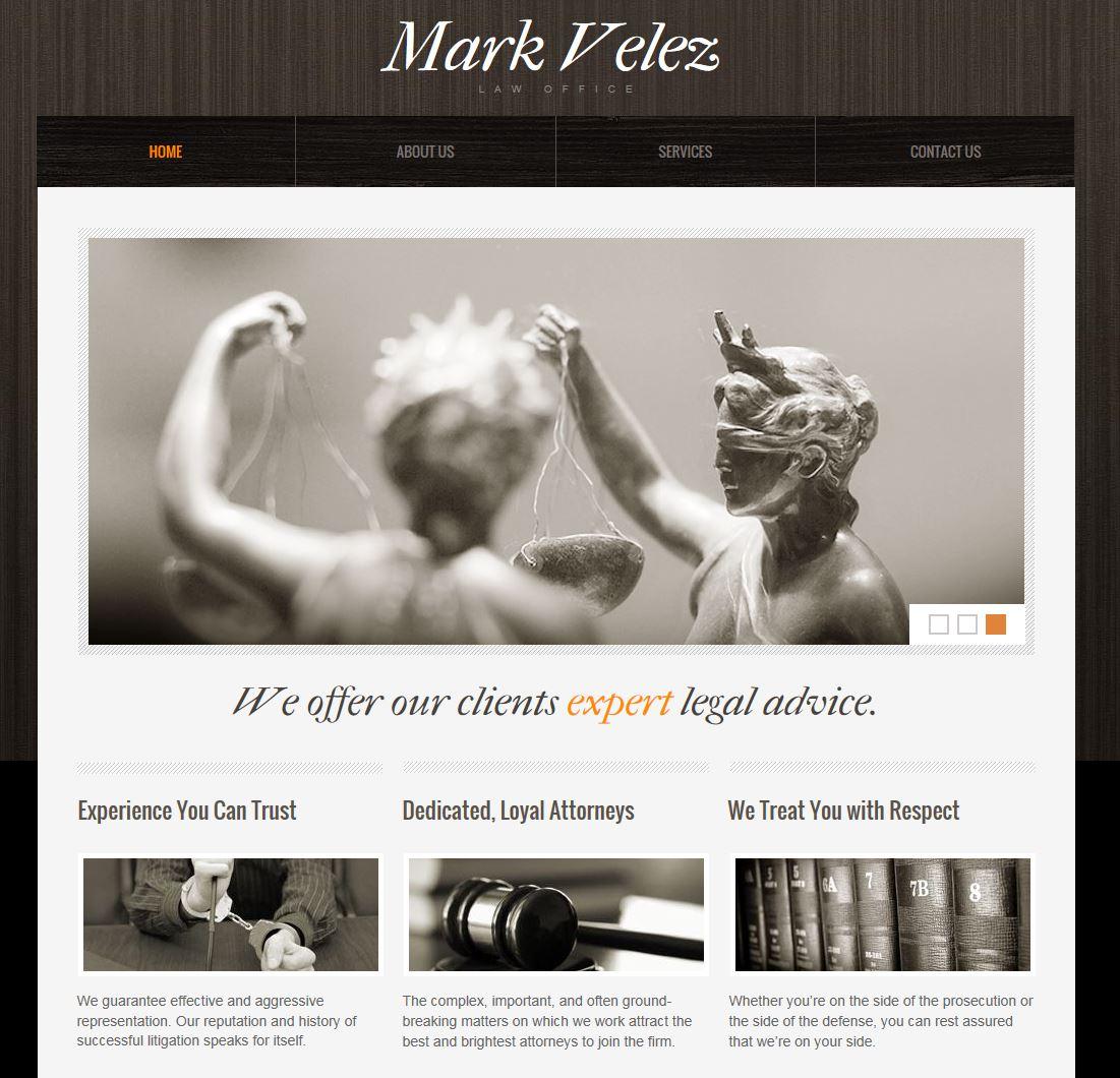 Velez Mark Home Website Page